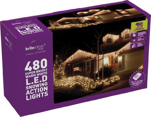 Festive 480Eiszapfen LED Lichter, warm, weiß -