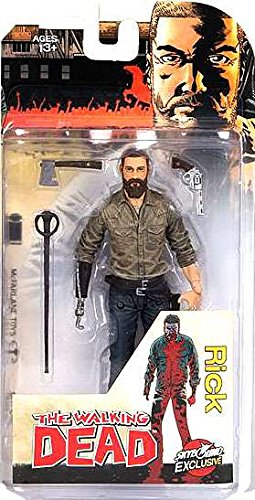 McFarlane Toys Figura Rick Grimes, The Walking Dead cómic, Skybound Exclusive, Regular Version, 13 cm