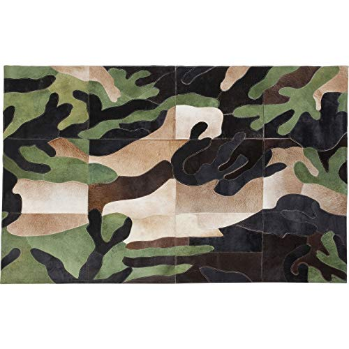 Kare Teppich Camouflage170x240cm Mehrfarbig 240 1 170 240 x 170 x 1 Teppich Camouflage170x240cm Leder Eckig