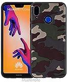 Favory Camouflage Design Silikon Case Premium TPU Hülle für Huawei P8 Lite (2017) Tasche Schutzhülle Cover Shop