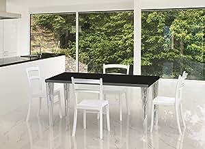 Table design LULU Noir 160 cm