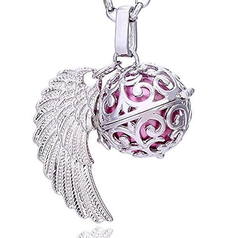 Morella Damen Schutzengel Halskette Edelstahl 70 cm