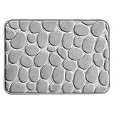 mDesign Duschmatte – nicht-rutschende Matte für Badewanne und Duschkabine – kleine Badmatte aus weichem Schaumstoff im Kieselsteinlook – grau