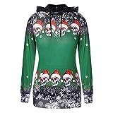 YSFWL Frauen Hallween Weihnachten Tops SchäDel Schneeflocke Pullover Gedruckt Hoodie Sweatshirt...