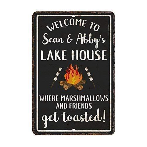 to The Lake Where Marshmallows and Friends Get Toasted Eisen-Plakat-Malerei-Plaketten-Metallweinlese-Dekorations-Handwerk für Café-Bar-Garagen-Haus ()