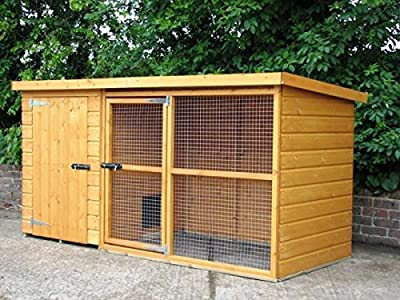 UK Kennels. Wilton Dog Kennel And Run 8ft X 4ft. by UK Kennels