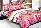 #10: Hargunz Glace cotton Floral Double Bedsheet with 2 pillow Covers