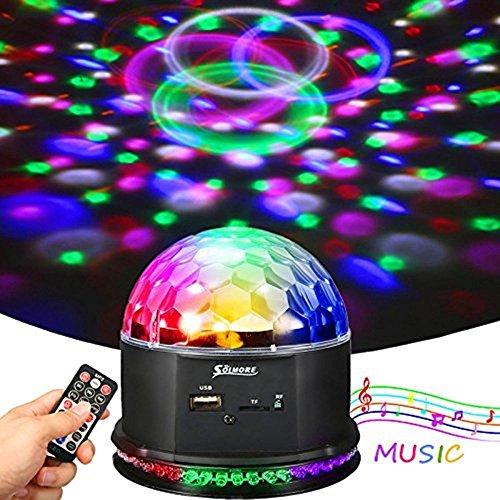 LED Discokugel, SOLMORE Magic Musik Discokugel Partylicht Discolicht Projektor Lichteffekte Discobeleuchtung Partybeleuchtung mit Fernbedienung...