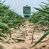 3 in 1 misuratore del suolo, kit di analisi del terreno per umidità/luce/pH, strumento di misurazione del terreno pH ph, cura delle piante per interni/esterni (2019 aggiornato)