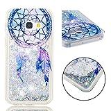 BONROY Coque Etui Housse Liquide Crystal Coque Transparente Silicone TPU Case Cover Bling Glitter Sparkle Briller Quicksands pour Samsung Galaxy A3 2017 / A320-(Carillon éolien TPU-Dream)