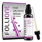 Sérum Follione de croissance capillaire pour femmes. Traitement contre la chute des cheveux permettant une croissance facile des cheveux. Testé dermatologiquement -Traitement d'un mois.