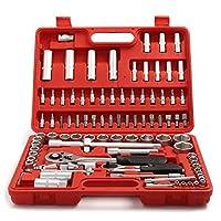 "AllRight 1/2"" 1/4"" Socket Set Screwdriver Bit Torx Ratchet Driver Case Tool Kit 94 Pcs"