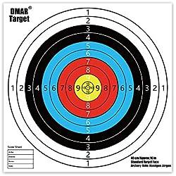 DMAR Cible pour Le tir à l'arc 40x40 cm cibles tir à l'arc et cibles d'armes à feu Jeu de cibles de tir 20pcs