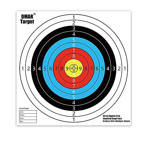 DMAR Dianas para tiro con arco 40 x 40 cm dianas de Tiro conjunto de blancos de tiro 30 piezas