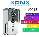 KONX® 2016Doorbell interfono portero Video Red IP WIFI RJ45+ relé puerta síntesis voz Inglés