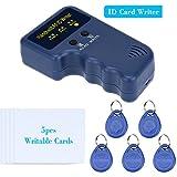 sdreamland 125KHz RFID Schriftsteller, RFID Card Kopierer RFID Cloner für Access Control Schlüssel mit 125KHz RFID KARTENLESER + 5x EM4305beschreibbares Karten + 5x EM4305Schlüsselanhänger Schlüssel
