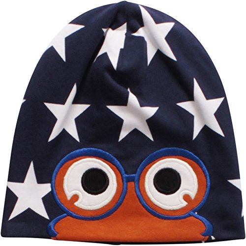 Fred's World by Green Cotton Star peep beanie - Bonnet - Bébé garçon, Blau (Skipper 019395201), 2 Ans (taille Fabricant: 92/98)