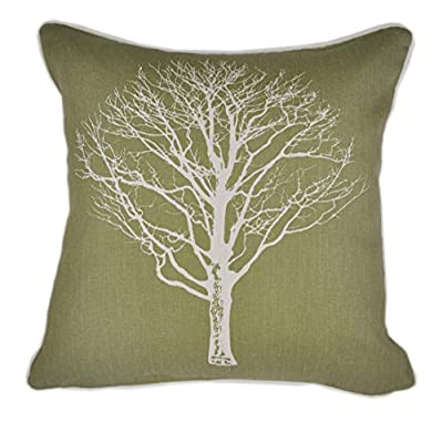 """One """"Woodland Trees"""" Filled Cushion, Green, 17 x 17-Inch - cheap UK light store."""