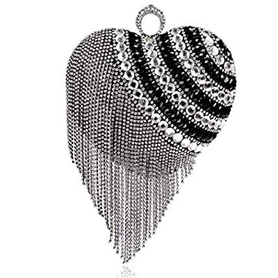 Fashion Wild Tassel Handbag Banquet Diamond Evening Bag Nightclub Evening Wear Mini Bag - clutches