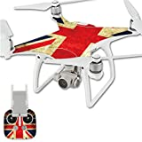 Seeme® Exclusive Decoration Wrap Skin Water-resistant 3M Sticker Decal Kit for DJI Phantom 4 Professional / Advanced Quadcopter Body and Remote Controller (DJI4-008)