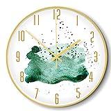 LZCHA Orologio da 12 Pollici in Metallo A 12 Pollici, Piccolo, Fresco, Decorativo, Orologio da Parete