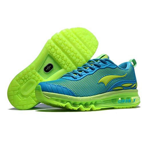 Onemix Air Uomo Donna Scarpe da Corsa Sportive Running Sneakers Casual all'Aperto Green