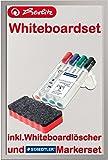 Herlitz 10524627 Whiteboard und Magnettafel, 40 x 60 cm / Kombi-Set (inkl. 4 Marker + Löscher rot)