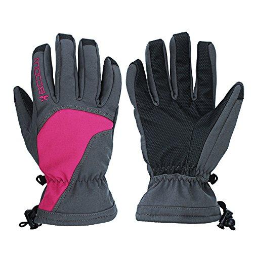 Wooya Motorrad Winter Handschuhe Wasserdicht Warm Eislaufen Im Freien Sport Winddicht-Rose-L
