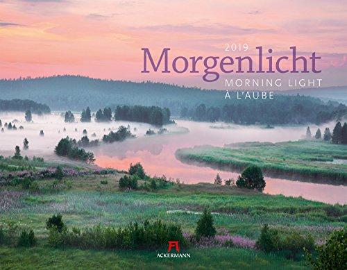 Morgenlicht 2019, Wandkalender im Querformat (54x42 cm) - Inspirationskalender / Landschaftskalender mit Monatskalendarium