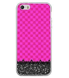 Fiobs Designer Back Case Cover for Apple iPhone SE (Cross Checks X Patterns Designs )