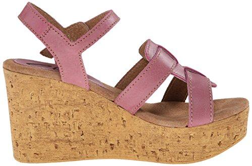 Sbicca Seacliff Damen Leder Keilabsätze Sandale Rose