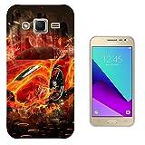 003330 - Orange sports car on fire Design Samsung Galaxy