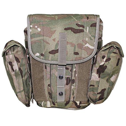 MFH Masque de protection Britannique Sac MTP Camouflage avec bandoulière amovible et de cuisse Sangle Sacoche pour masque à gaz Ardoise