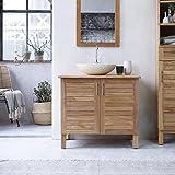 Unbekannt Tikamoon SOHO Waschtisch Badezimmer, Teak, beige, 85x 55x 75cm