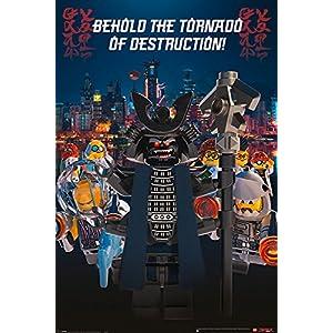 Close Up The Lego Ninjago Movie Poster Garmadon Destruction (61cm x 91,5cm) + Ü-Poster