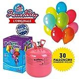 Hélium 0,25 m3 en bonbonne jetable pour 30 ballons