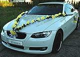 ROSEN GIRLANDE Auto Schmuck Braut Paar Rose Deko Dekoration Autoschmuck Hochzeit Car Auto Wedding...