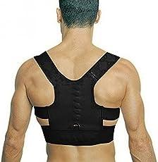 Veena Hot Adjustable Back Therapy Shoulder Magnetic Posture Corrector For Girl Student Child Men Women Adult Braces Magnet Supports Black Small