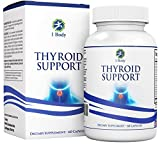 1 Body Thyroid Support Supplement - (Vegetarian) - natural blend of Vitamin B12, Iodine, Zinc, Selenium, Ashwagandha Root, Copper, Coleus Forskohlii & more - 30 Day Supply