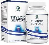 1 Body Thyroid Support Supplement - (Vegetarian) - natural blend of Vitamin B12, Iodine, Zinc, Selenium, Ashwagandha Root, Copper, Coleus Forskohlii & more - 30 Day Supply