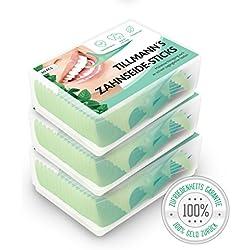 Zahnseide Stick Premium Zahnseide 180 Stück Zahnseidenhalter mit Mintgeschmack Zahnpflege Zahnreiniger Sticks Zahnseidensticks Zahnstocher Stick Oralpflege Zahnseide Sticks von Tillmann's Deutschland®