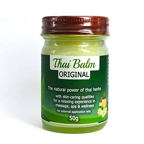 50g MyThaiMassage Thai Balsamo alle erbe * Original Thai Herb * per il massaggio - Il potere concentrato delle erbe tailandesi come prodotto cosmetico - Made in Thailand - Senza Paraffina