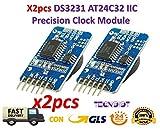 TECNOIOT 2xpcs DS3231 AT24C32 IIC Module Precision Clock Module DS3231SN for Arduino