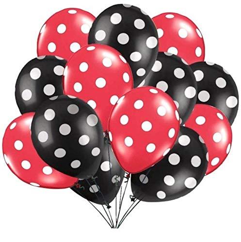 RZRCJ Luftballons (Spielzeug) 10 Teile / Los Latexballons 2,8G Polka Dot Marienkäfer Hochzeit Dekorationen Liefert Baby Shower Party Ballons, Rot Und Schwarz