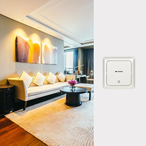 sale wisqo smart lichtschalter starter set hub lichtschalter receiver kompatibel mit alexa and. Black Bedroom Furniture Sets. Home Design Ideas