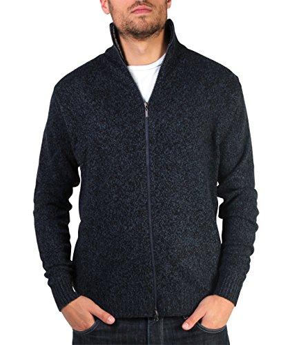 KRISP® Herren Pullover Isländer Troyer Marine Wollpullover Marineblau (7790)