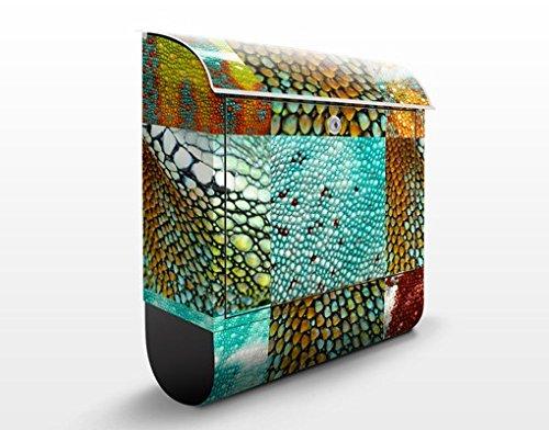 Schlange-haut-design (Design Briefkasten Reptile Structure | Reptilien Haut Leder Schlange, Postkasten mit Zeitungsrolle, Wandbriefkasten, Mailbox, Letterbox, Briefkastenanlage, Dekorfolie)