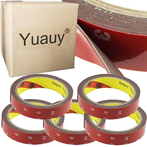 yuauy-5-pcs-3-m-x-20-mm-plus-lkw-auto-acryl-schaumstoff-befestigung-doppelseitiges-klebeband-selbstk