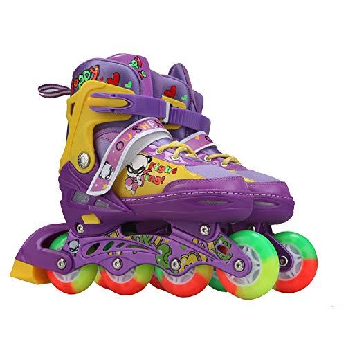 Leuchten Rollerblades Einstellbar Fitness In Der Reihe Rollschuhe Zum Junior, Jugend Performance Eislaufen Stiefel Schuhe,C,L