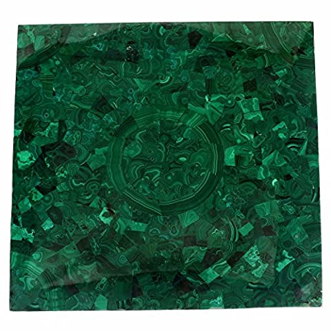 Breiten 61cm Edelstein handgefertigt Semi Precious natur grün Amethyst Stein quadratisch Form Kaffee Tisch Top
